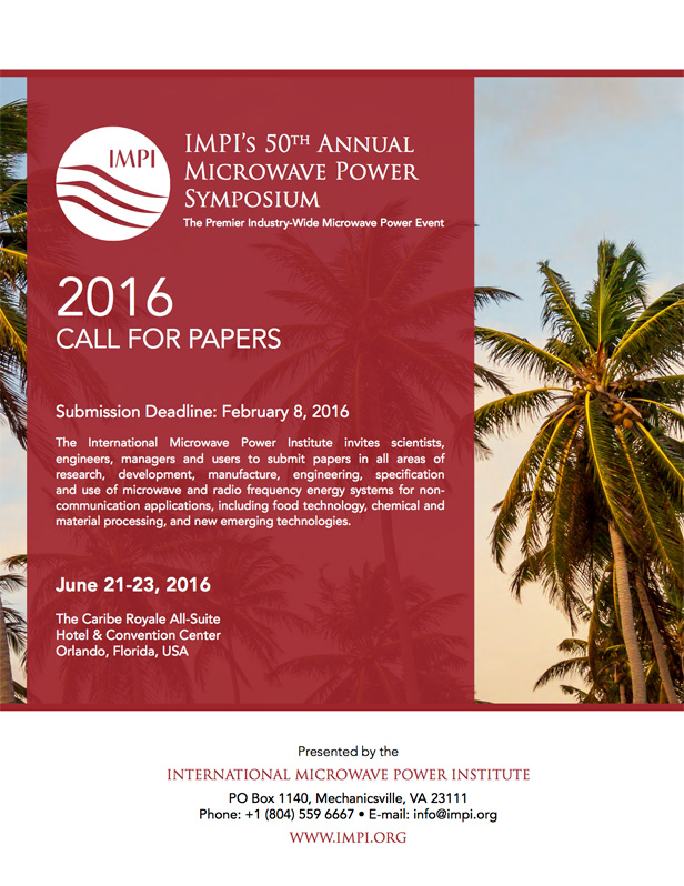 2016 Call for Papers IMPI
