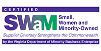 Small, Women and Minority-Owned Badge