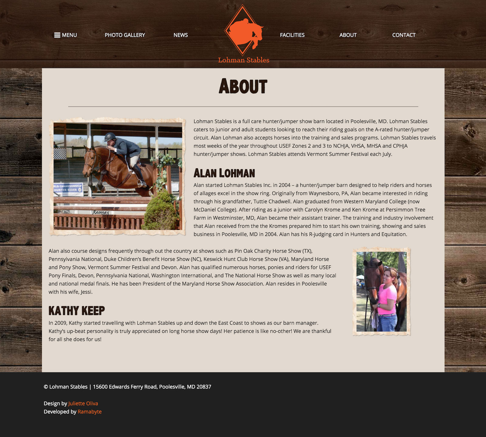 Lohman Stables - About