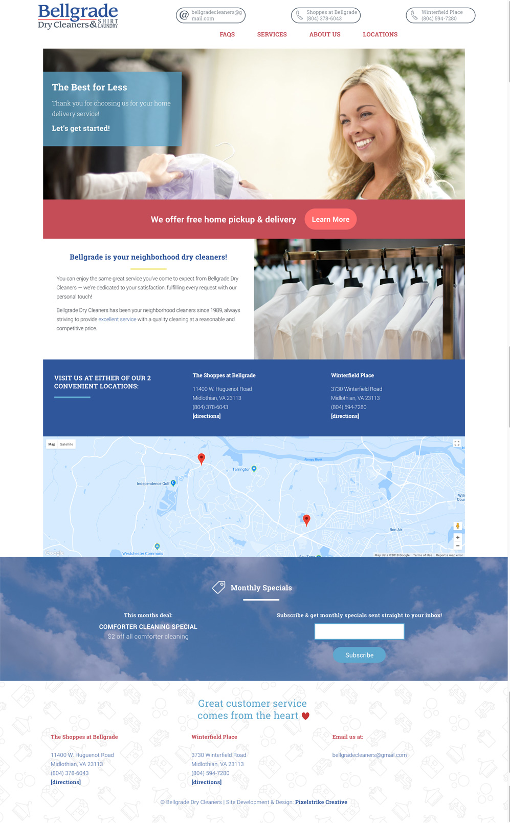 Homepage - Bellgrade Dry Cleaners