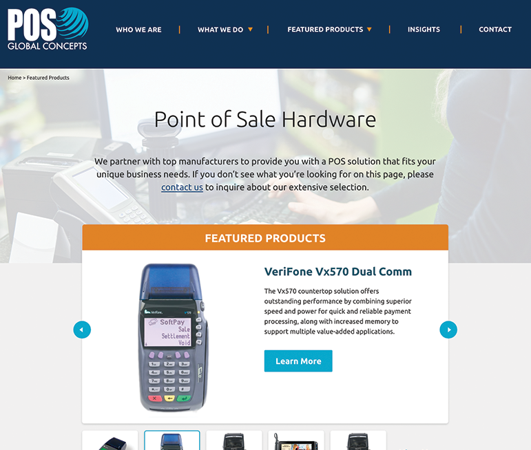POSGC featured products page