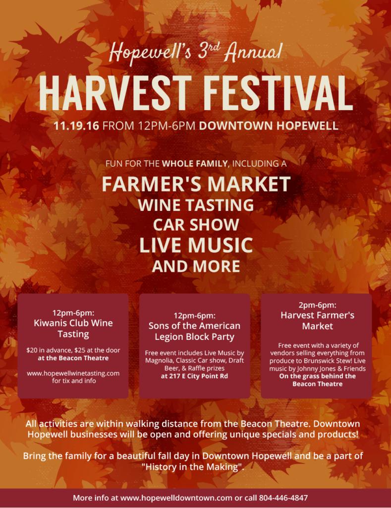 hopewell harvest festival flier
