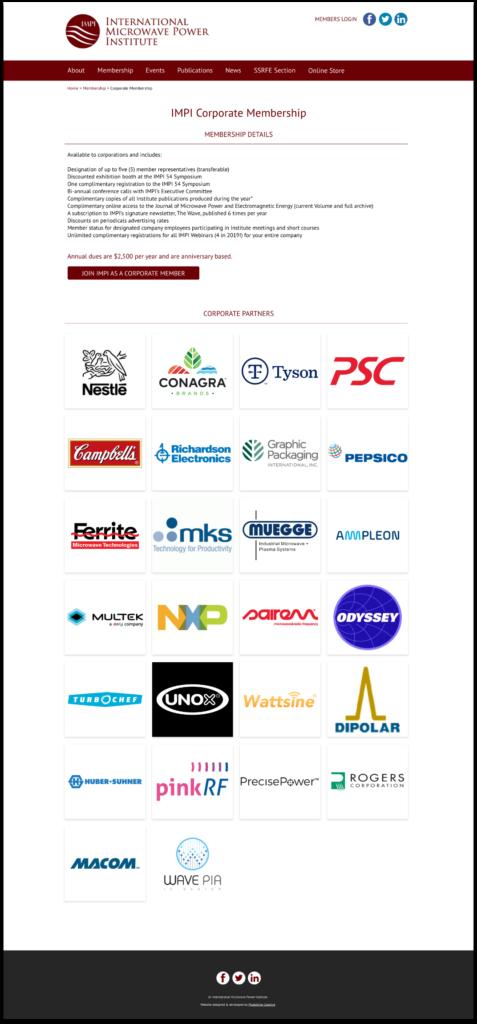 IMPI website sponsors