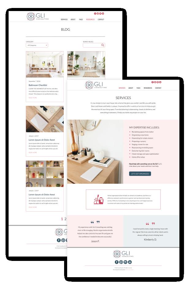GLI website design