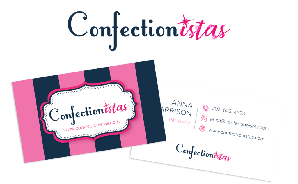 Confectionistas logo and business cards